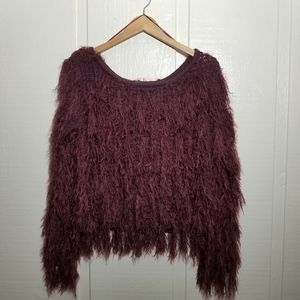 Sweaters - Shag Crop Sweater